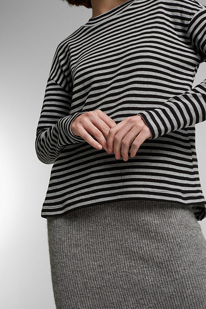 Long cardigan made of 100% organic cotton, BLACK, detail image number 2