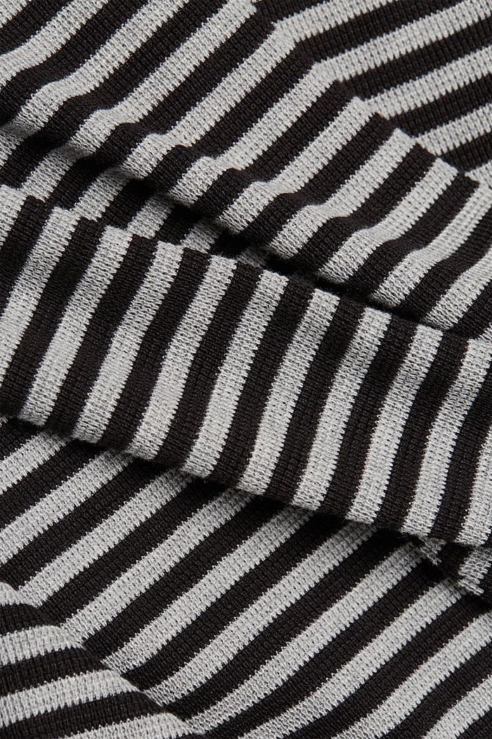 Long cardigan made of 100% organic cotton, BLACK, detail image number 4