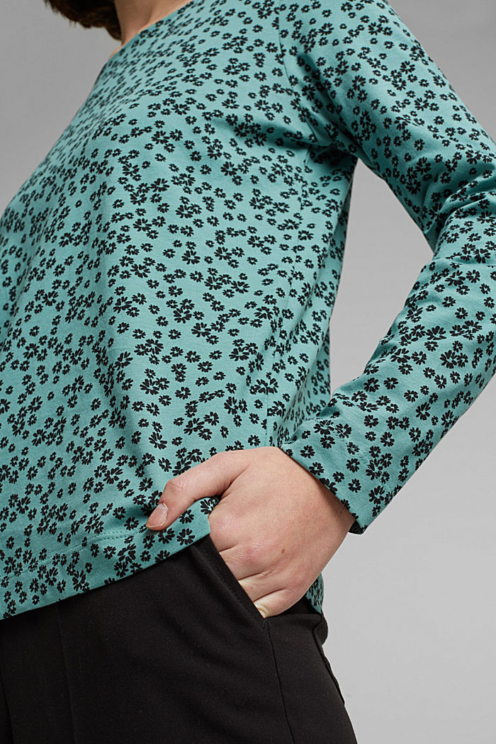 Long sleeve top made of 100% organic cotton, DUSTY GREEN, detail image number 2