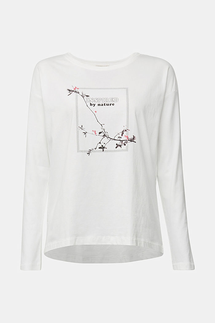 Long sleeve top made of 100% organic cotton, OFF WHITE, detail image number 5