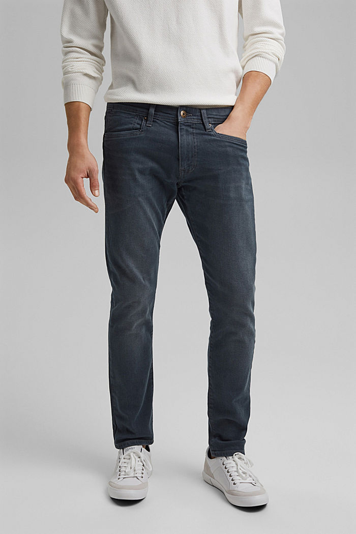 Stretch-Jeans mit Organic Cotton, BLUE GREY DARK WASHED, detail image number 0