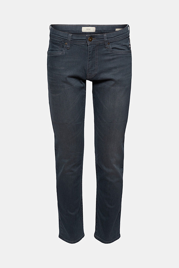 Stretch-Jeans mit Organic Cotton, BLUE GREY DARK WASHED, detail image number 5