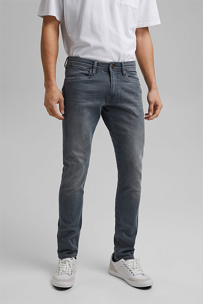 Stretch-Jeans mit Organic Cotton, BLUE GREY MEDIUM WASHED, detail image number 0