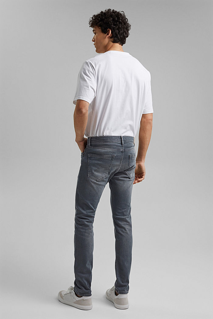 Stretch-Jeans mit Organic Cotton, BLUE GREY MEDIUM WASHED, detail image number 1