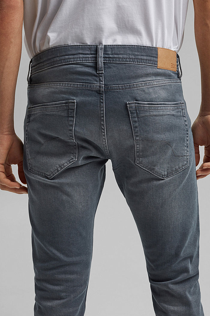 Stretch-Jeans mit Organic Cotton, BLUE GREY MEDIUM WASHED, detail image number 3