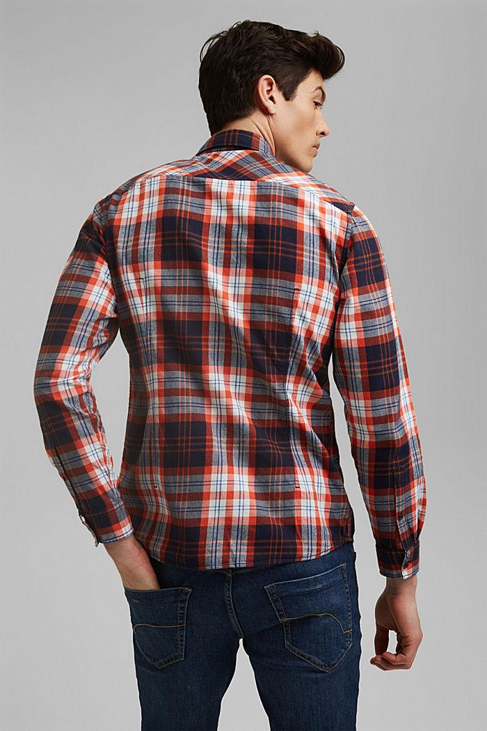 Kariertes Flanell-Hemd, Organic Cotton, NAVY, detail image number 3