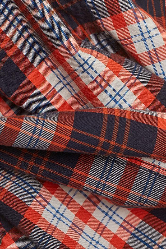 Kariertes Flanell-Hemd, Organic Cotton, NAVY, detail image number 4