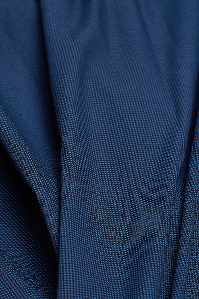 Shirt with micro pattern, 100% organic cotton, NAVY, detail image number 4