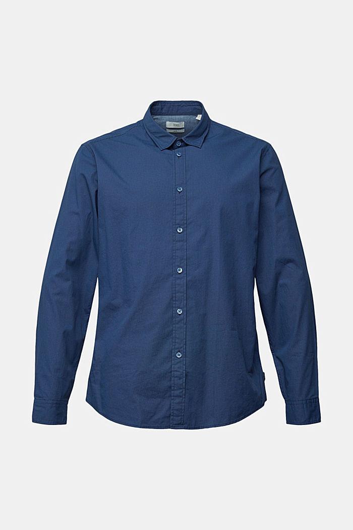 Hemd mit Micro-Muster, 100% Bio-Baumwolle