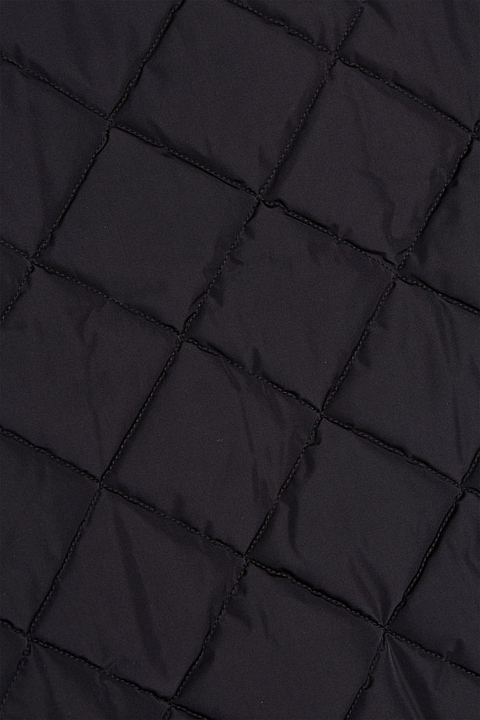 Zrecyklovaného materiálu: prošívaná bunda ve stylu bomberu, BLACK, detail image number 5