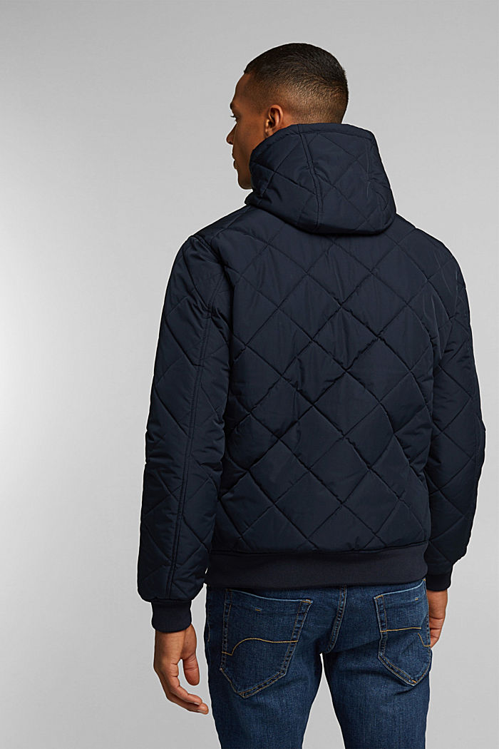 Recycled: bomber-style quilted jacket, NAVY, detail image number 3