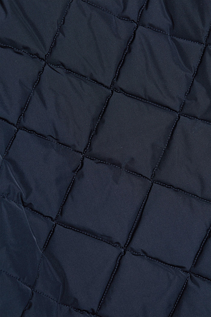 Recycled: bomber-style quilted jacket, NAVY, detail image number 4