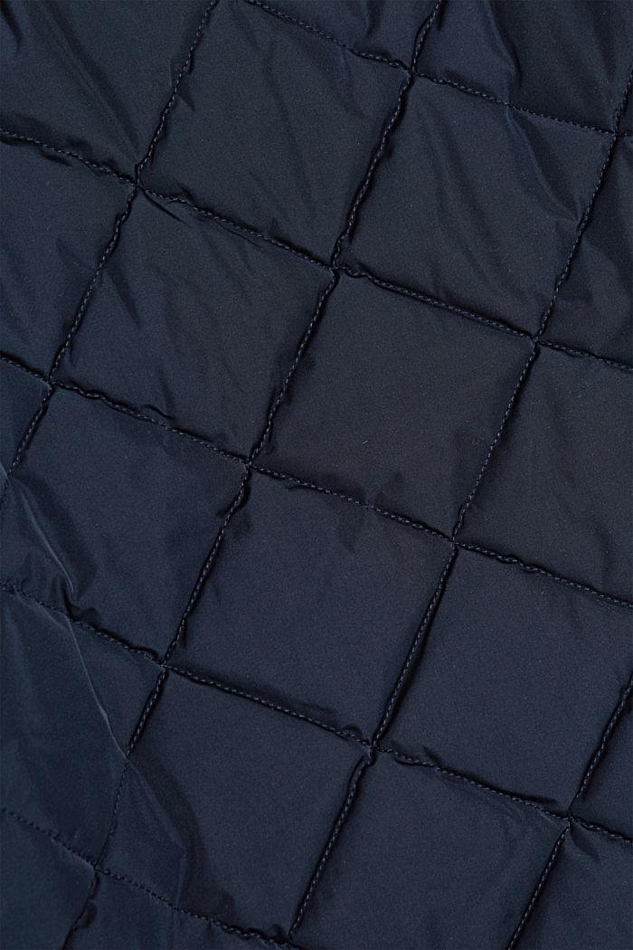 Gerecycled: gewatteerde jas in bomberjackstijl, NAVY, detail image number 4