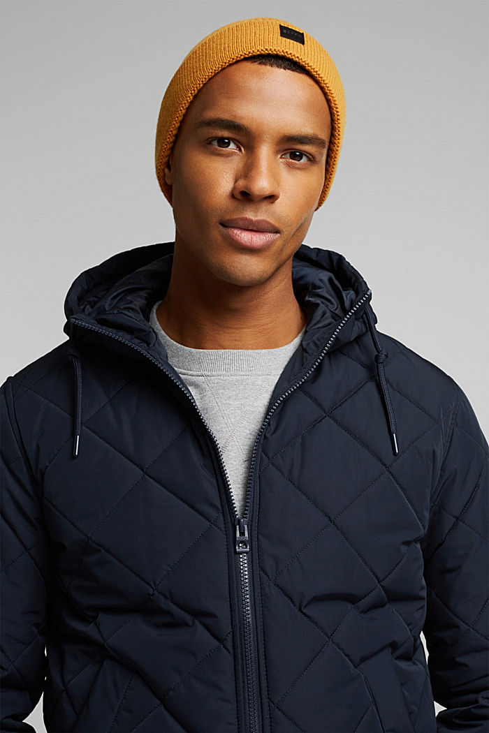 Recycled: bomber-style quilted jacket, NAVY, detail image number 5