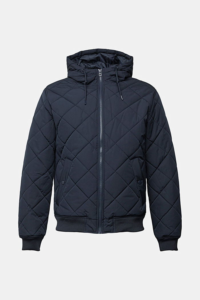 Recycled: bomber-style quilted jacket, NAVY, detail image number 6