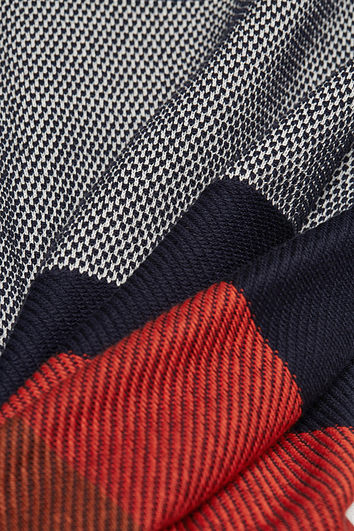 Striped jumper made of 100% organic cotton, NAVY, detail image number 4