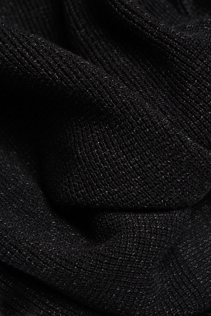Textured jumper made of 100% organic cotton, BLACK, detail image number 4