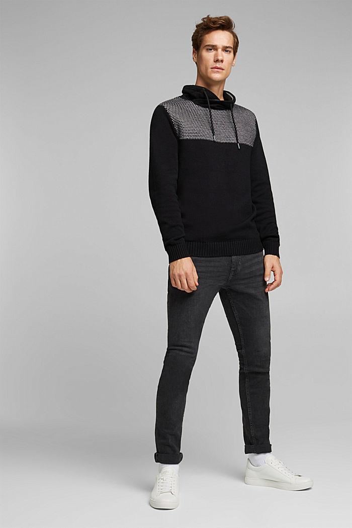 Pullover aus 100% Organic Cotton, BLACK, detail image number 5