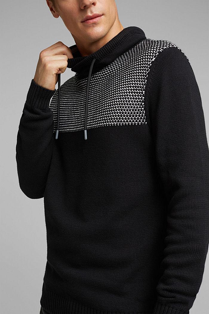 Pullover aus 100% Organic Cotton, BLACK, detail image number 2