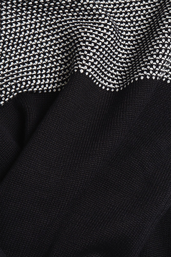 Pullover aus 100% Organic Cotton, BLACK, detail image number 3