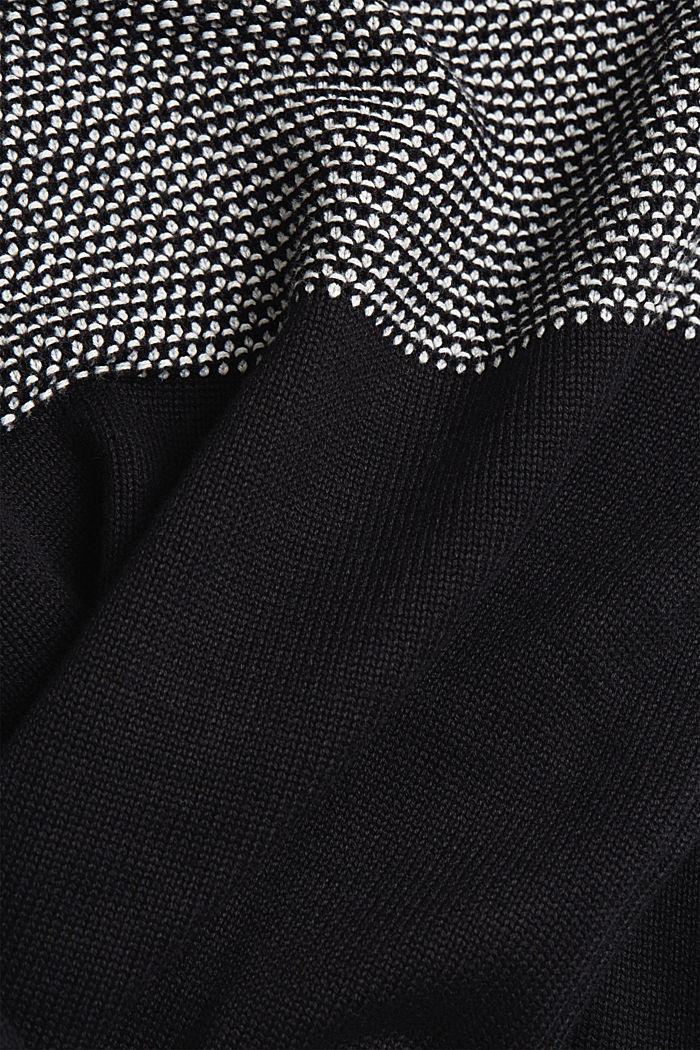 Pullover aus 100% Organic Cotton, BLACK, detail image number 4