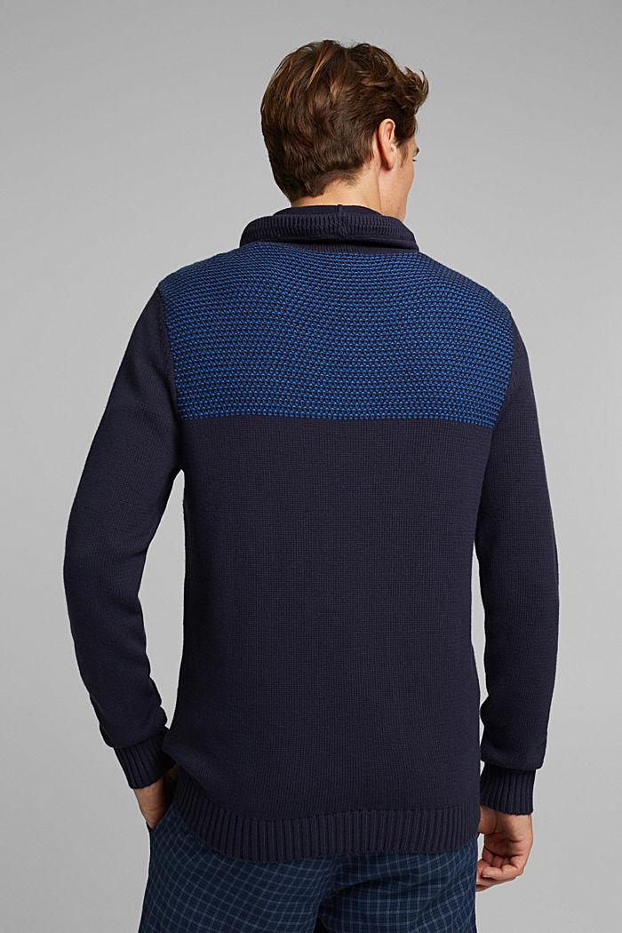 Pull-over 100% coton biologique, NAVY, detail image number 3