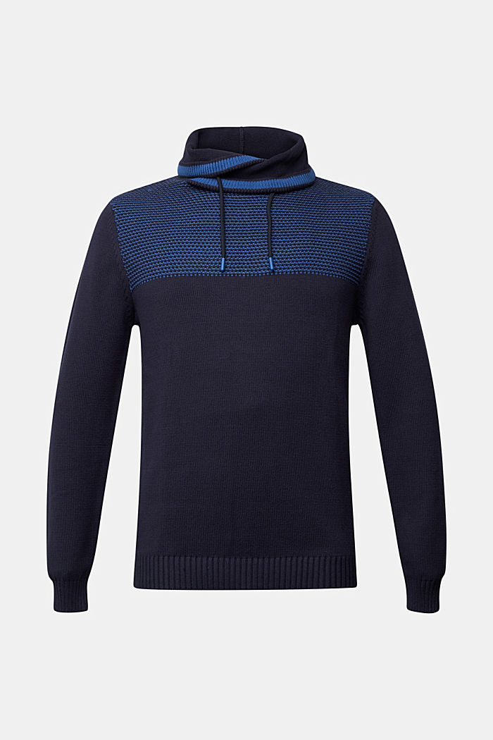 Jumper made of 100% organic cotton, NAVY, overview