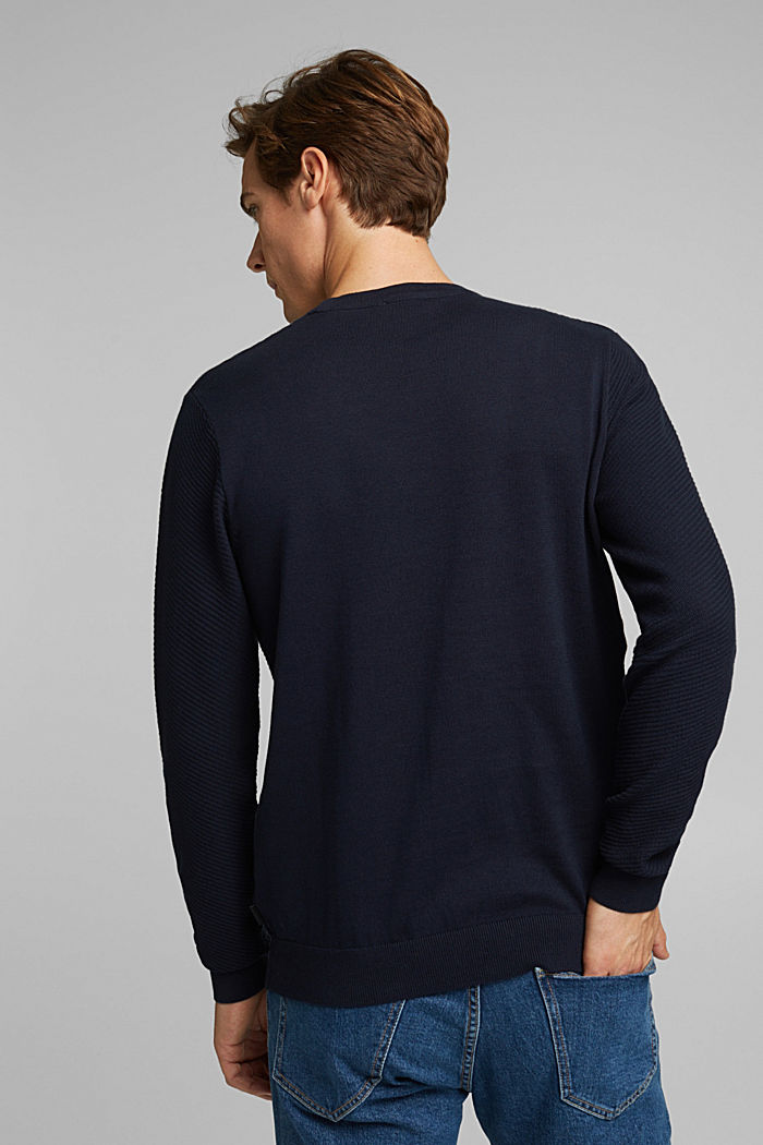 Pullover aus 100% Organic Cotton, NAVY, detail image number 3