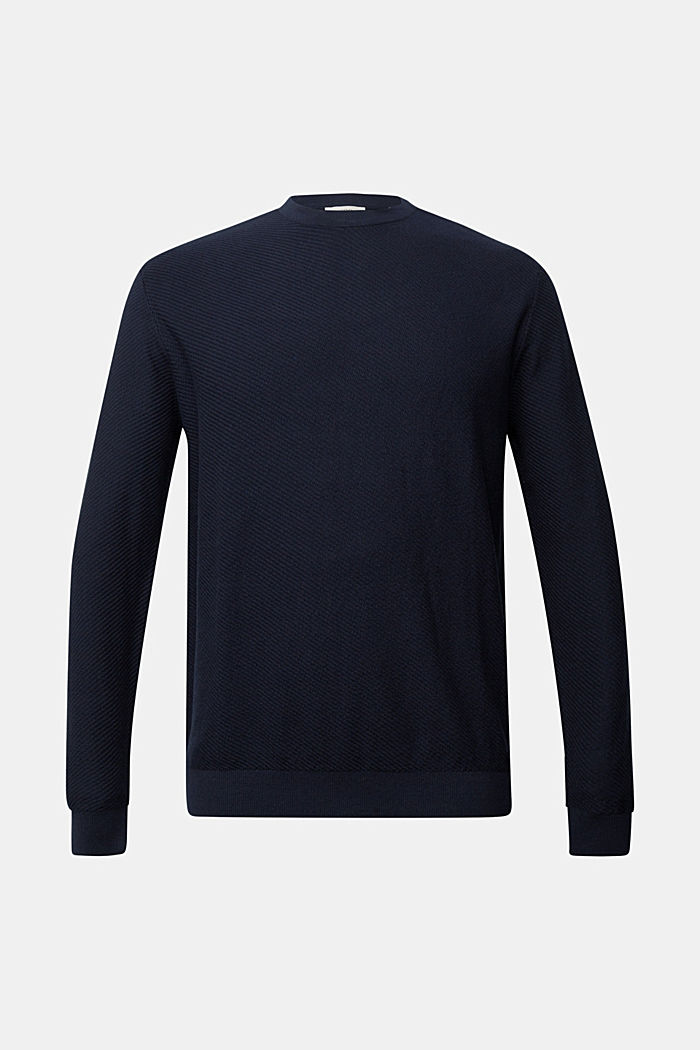 Pullover aus 100% Organic Cotton, NAVY, detail image number 6