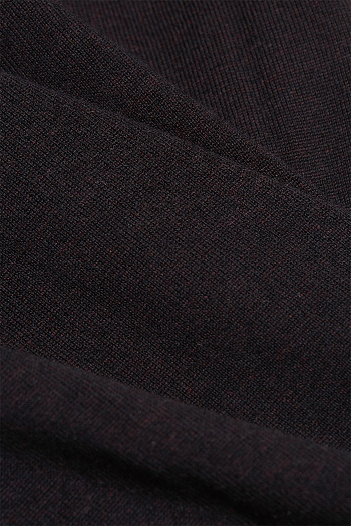 Fine knit jumper made of organic cotton, BLACK, detail image number 4