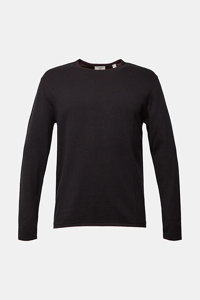 Fine knit jumper made of organic cotton