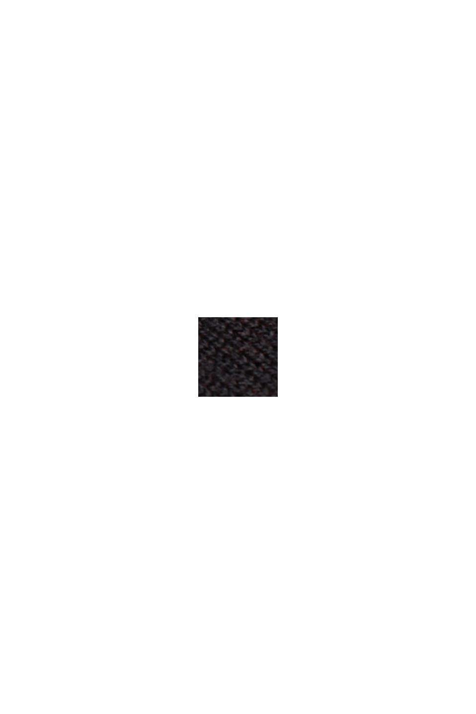 Pull-over en fine maille de coton bio, BLACK, swatch