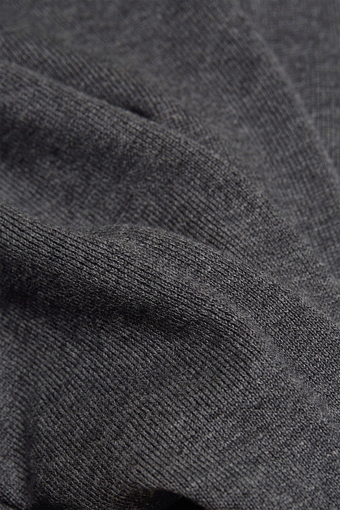 Fine knit jumper made of organic cotton, DARK GREY, detail image number 4
