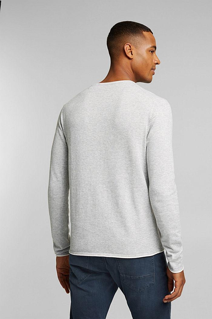 Fine knit jumper made of organic cotton, LIGHT GREY, detail image number 3