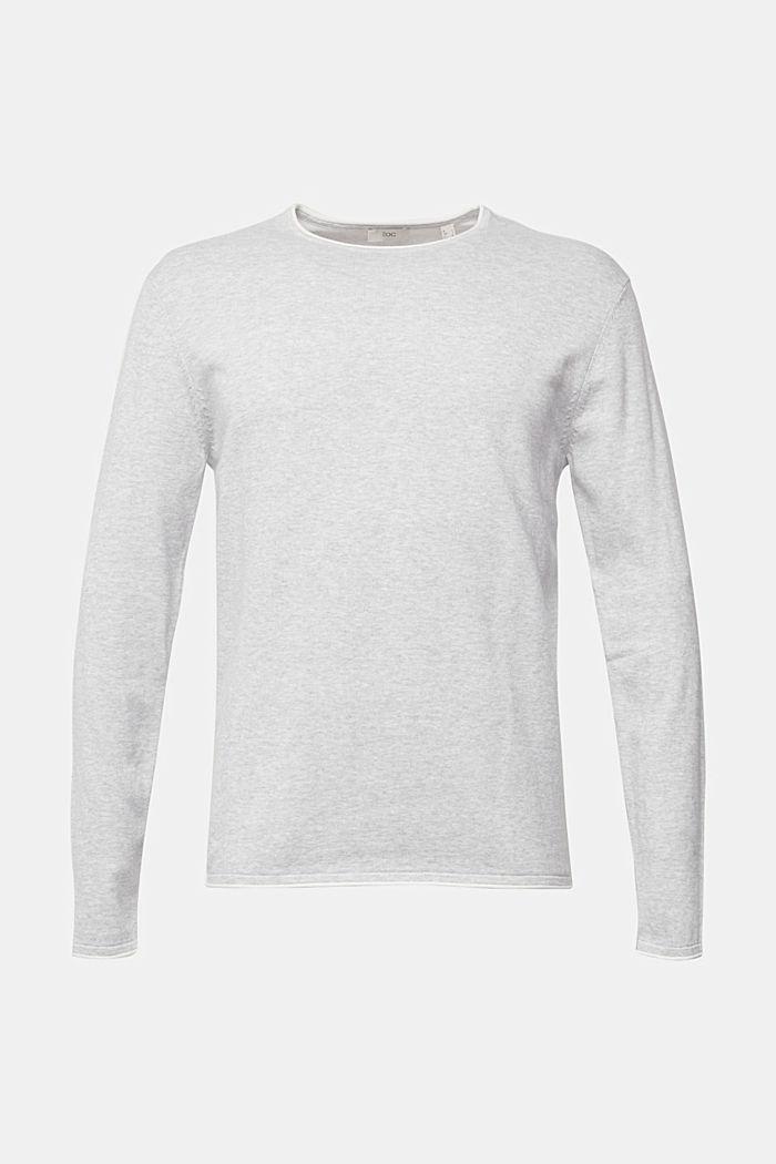 Fine knit jumper made of organic cotton, LIGHT GREY, detail image number 7