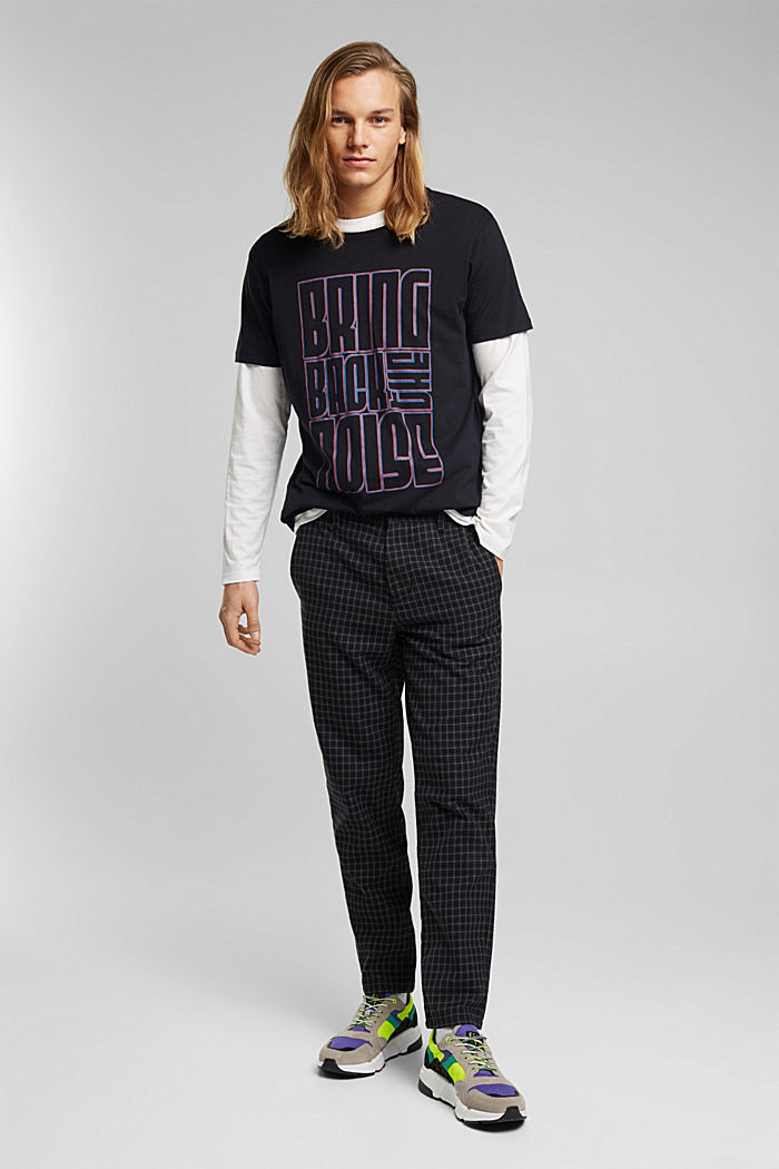 Jersey T-shirt made of 100% organic cotton, BLACK, detail image number 6