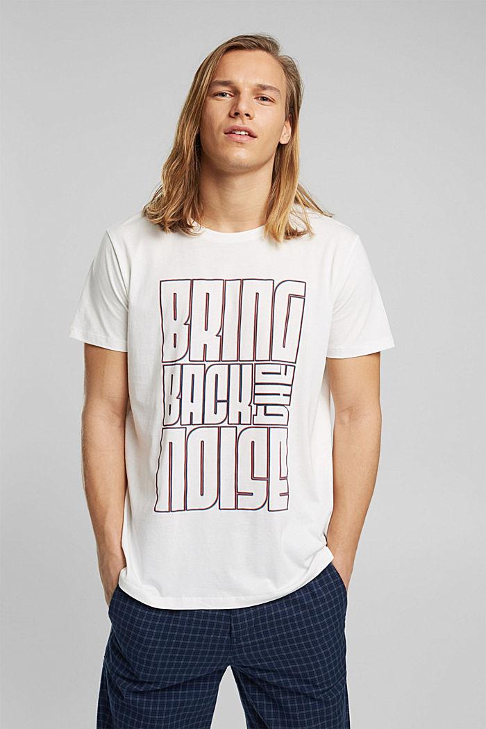 Jersey-T-Shirt aus 100% Bio-Baumwolle, OFF WHITE, detail image number 0