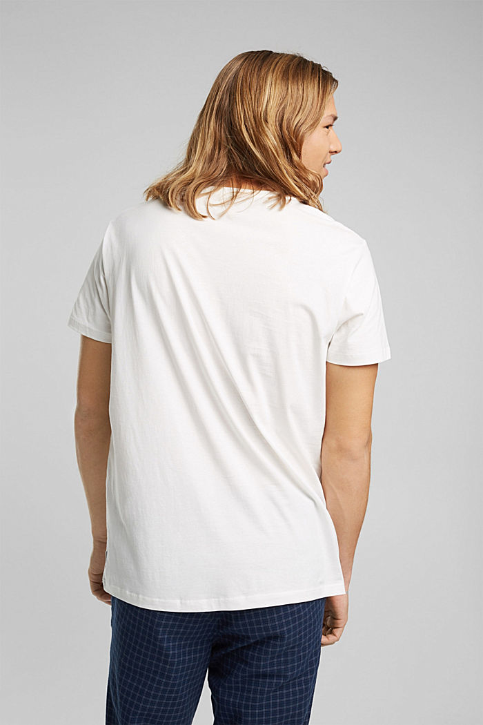 Jersey-T-Shirt aus 100% Bio-Baumwolle, OFF WHITE, detail image number 3