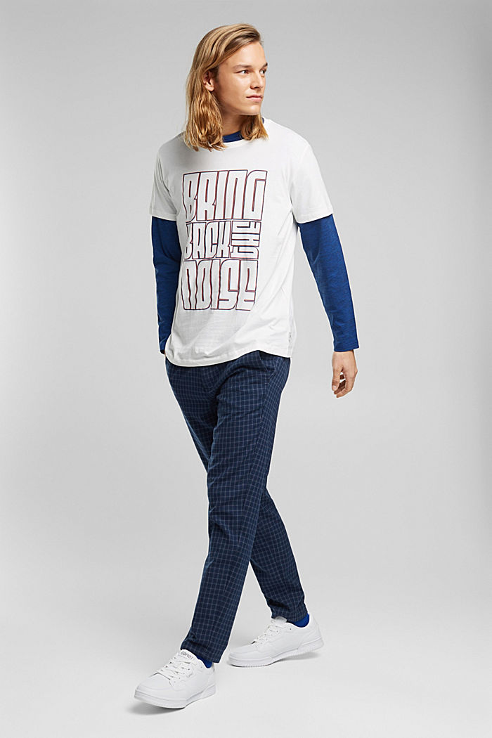 Jersey-T-Shirt aus 100% Bio-Baumwolle, OFF WHITE, detail image number 6
