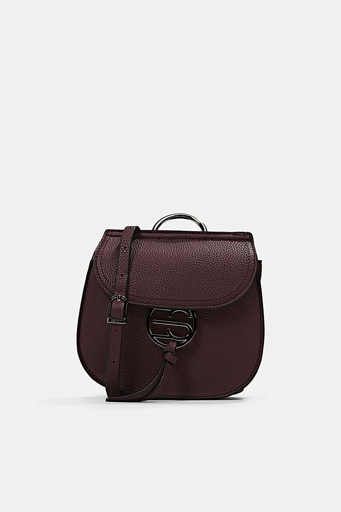 Vegan: small shoulder bag, BORDEAUX RED, detail image number 0
