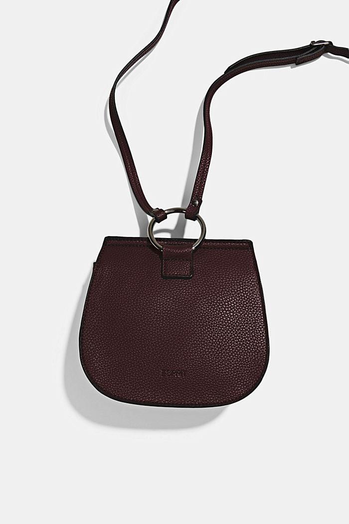 Vegan: small shoulder bag, BORDEAUX RED, detail image number 3