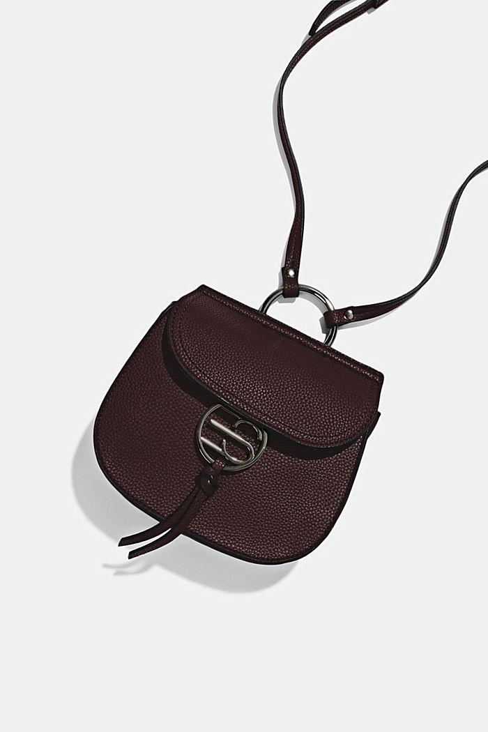 Vegan: small shoulder bag, BORDEAUX RED, detail image number 4