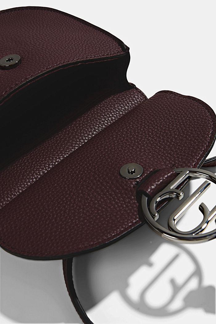 Vegan: small shoulder bag, BORDEAUX RED, detail image number 2