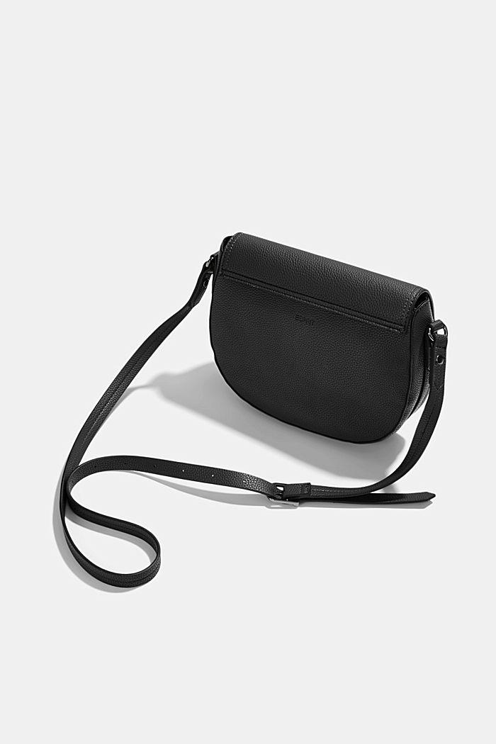 Vegan: Faux leather saddle bag, BLACK, detail image number 5
