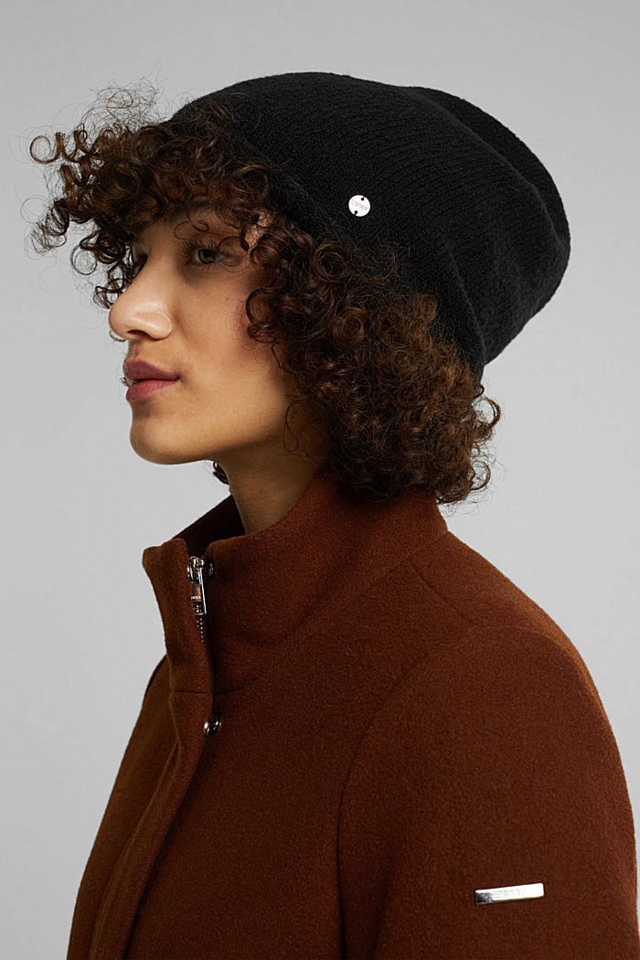 Wool blend: Hat with a rolled edge
