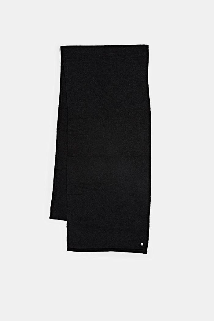 Mit Wolle: Schal mit Rollkanten