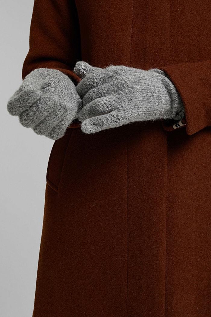 Mit Wolle: Touchscreen-Handschuhe