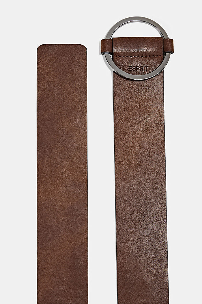 Breiter Taillengürtel aus Leder, RUST BROWN, detail image number 1