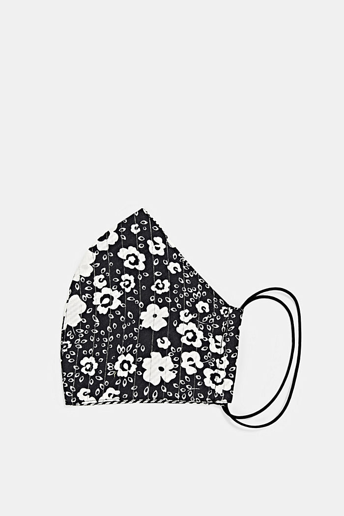 Unisex cotton mask, BLACK, detail image number 0