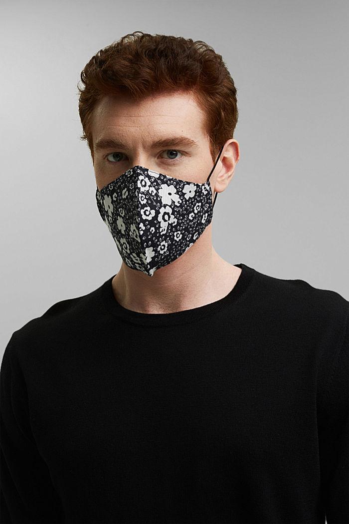 Unisex cotton mask, BLACK, detail image number 2